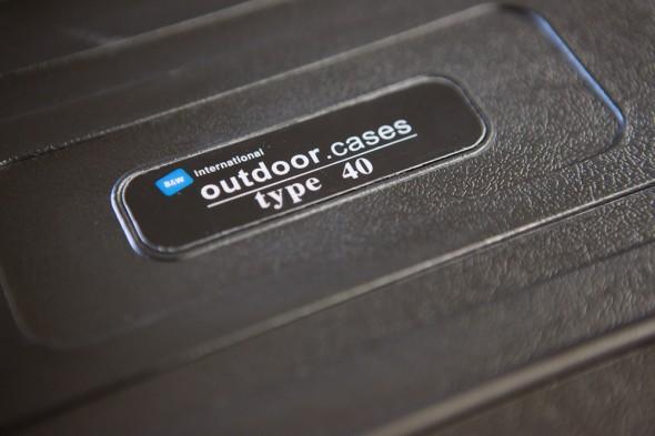 B&W Outdoor Case zur Lagerung der Backup Festplatten