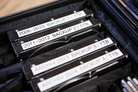 Nummerierte Backup Festplatten